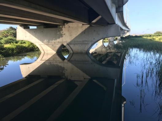 Reflections Under Vilano Bridge